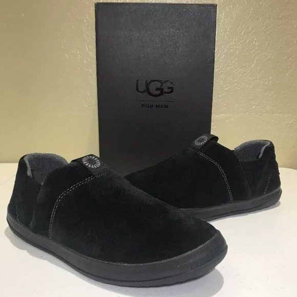 cba58537cd0 UGG Mens Hanz Slippers Black Style 1017266 New NWT
